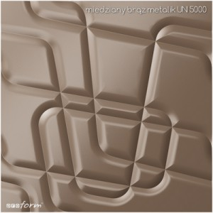 PANEL 3D MODULOWALL MAZE BRĄZ METALIK UN5004
